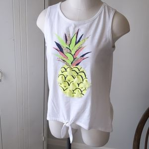 Justice pineapple tank top 18/20